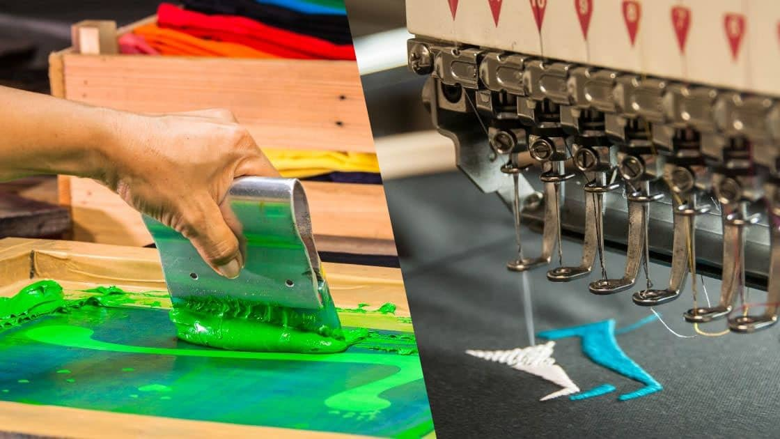 screen printing vs embroidery
