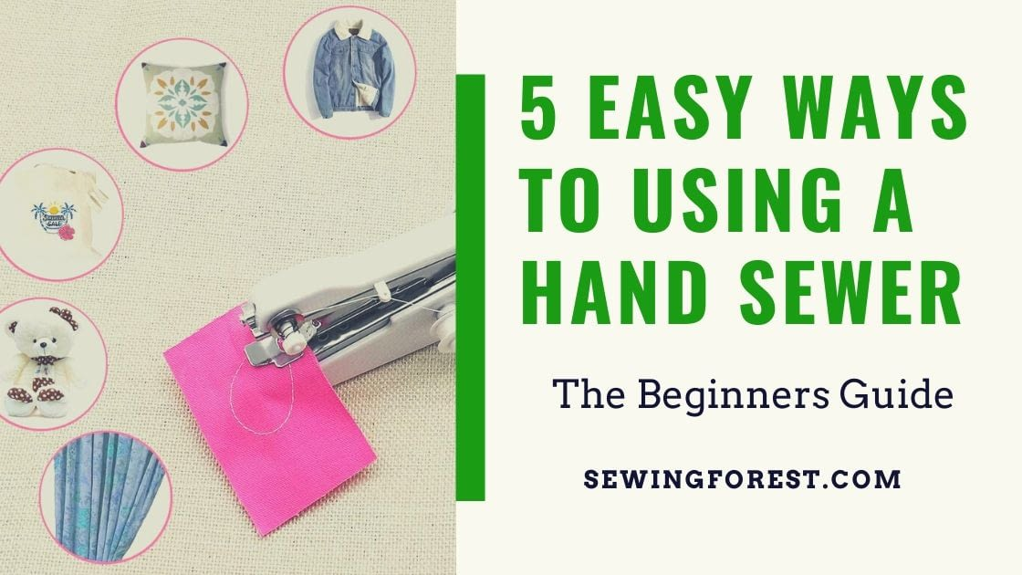 how to use a handheld sewing machine
